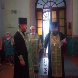 На кануне престольного праздника в Симеоновском храме г. Каменец.