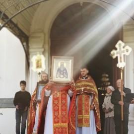В день перенесения мощей прмч. Макария игумена Каменецкого состоялось соборное богослужение и крестный ход в г.Каменце.