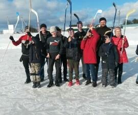 Игра в хоккей, приурочена к Дню православной  молодёжи.